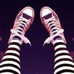 ноги в полосатых гетрах