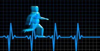 человечек бежит по пульсу