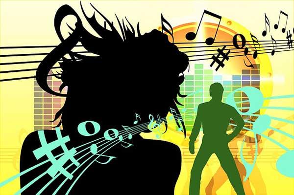 карикатура шума и музыки