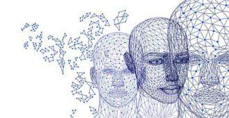 цифровое изображение головы человека
